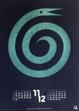 グラフィックカレンダー 「ヘビ」